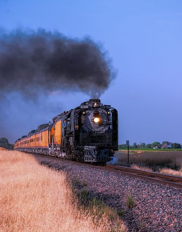 844, steam locomotive, train, green signal