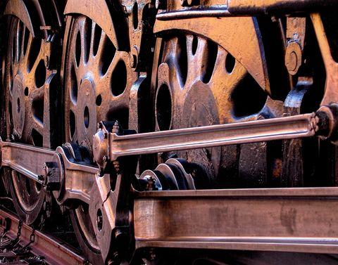 steam locomotive, up 844, steam locomotive wheels