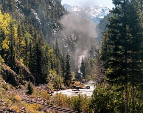 durango silverton, narrow gauge, tourist railroad, colorado