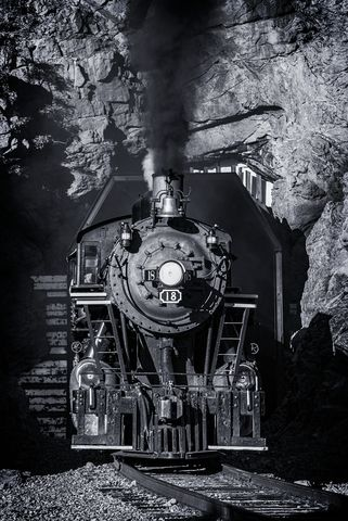 tunnel, mountain railroading, steam locomotive, rio grande scenic railroad