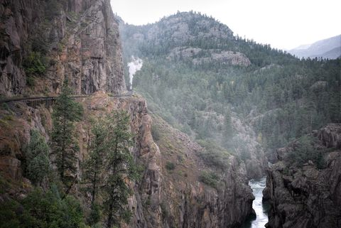durango silverton, highline, colorado, tourist rr