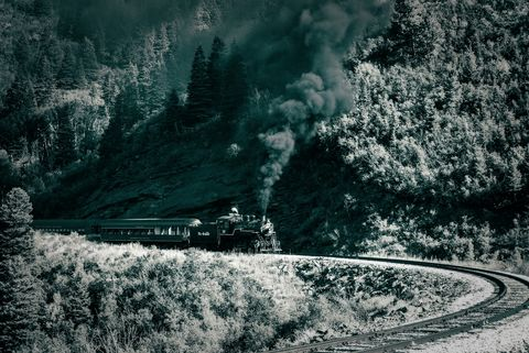 rio grande scanic, steam locomotive, colorado, working