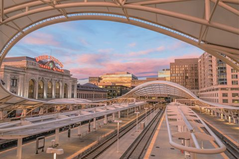 denver, train station, downtown, passenger station