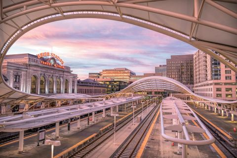 denver, union station, downtown, passenger station, train