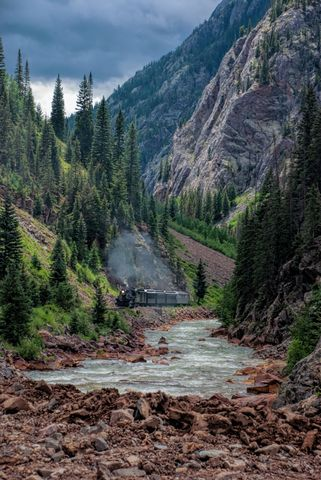 durangosilverton, colorado, narrowgauge, durango, silverton, animas, canyon, river
