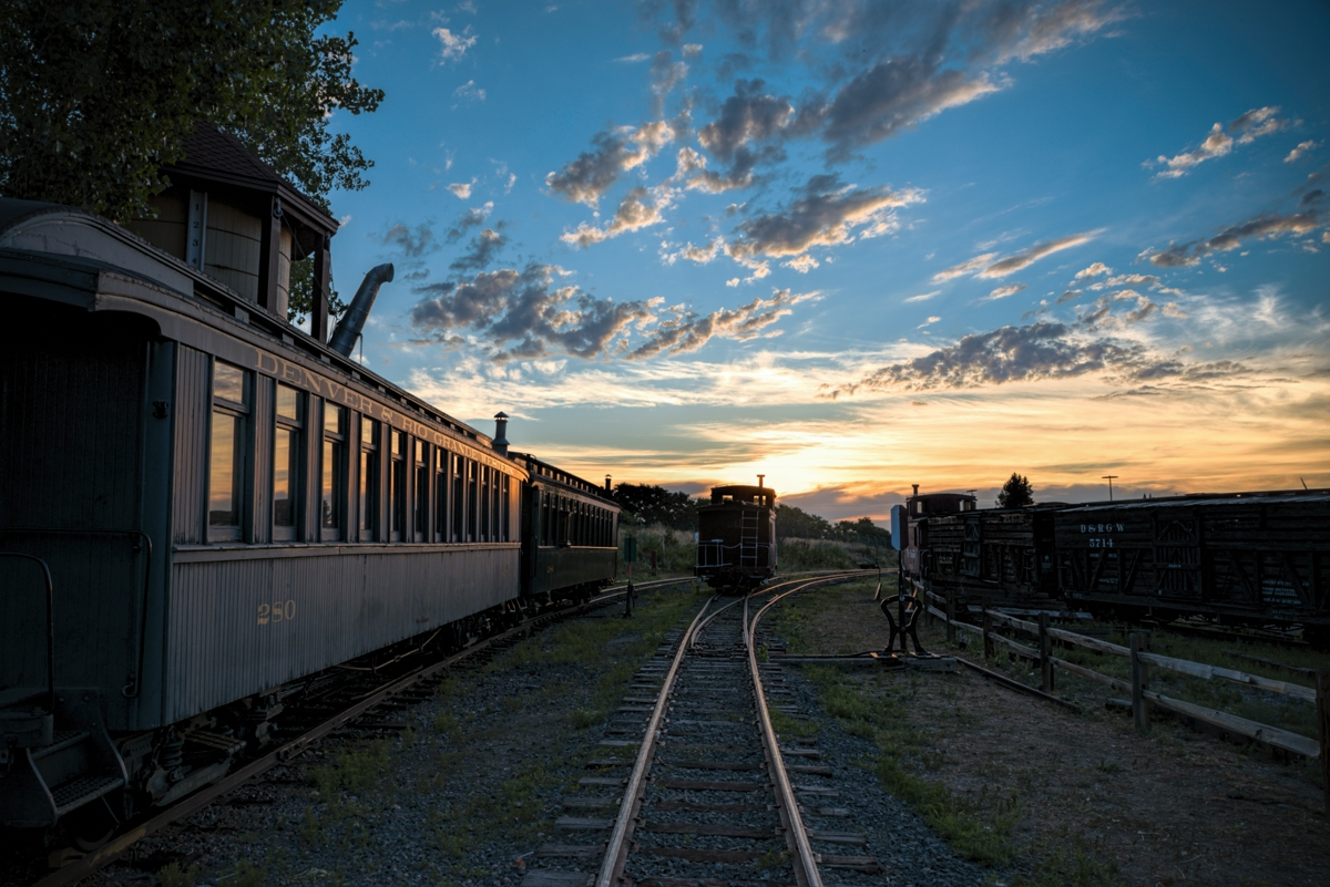 A new day starts with a nice colorful Colorado sunrise to wake up the world. Taken at sunrise at the Colorado Railroad Museum...