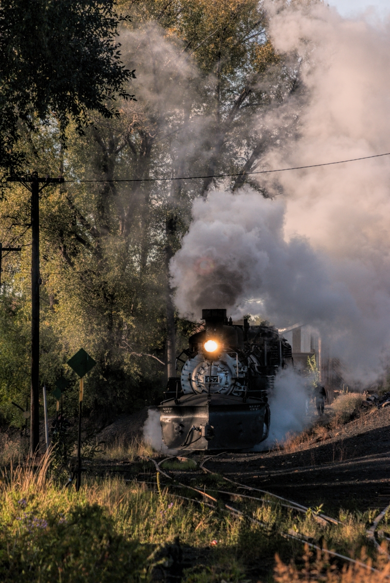 Chama New Mexico can be a very magical place first thing in the morning. Narrow gauge steam locomotive crews getting ready for...