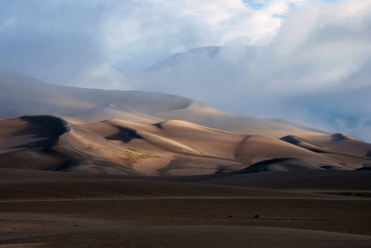 The light show at the Great Sand Dunes National Park