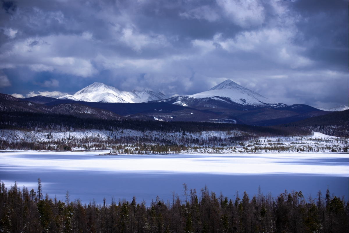 lakedillon, colorado, summitcounty, lake, winter, photo