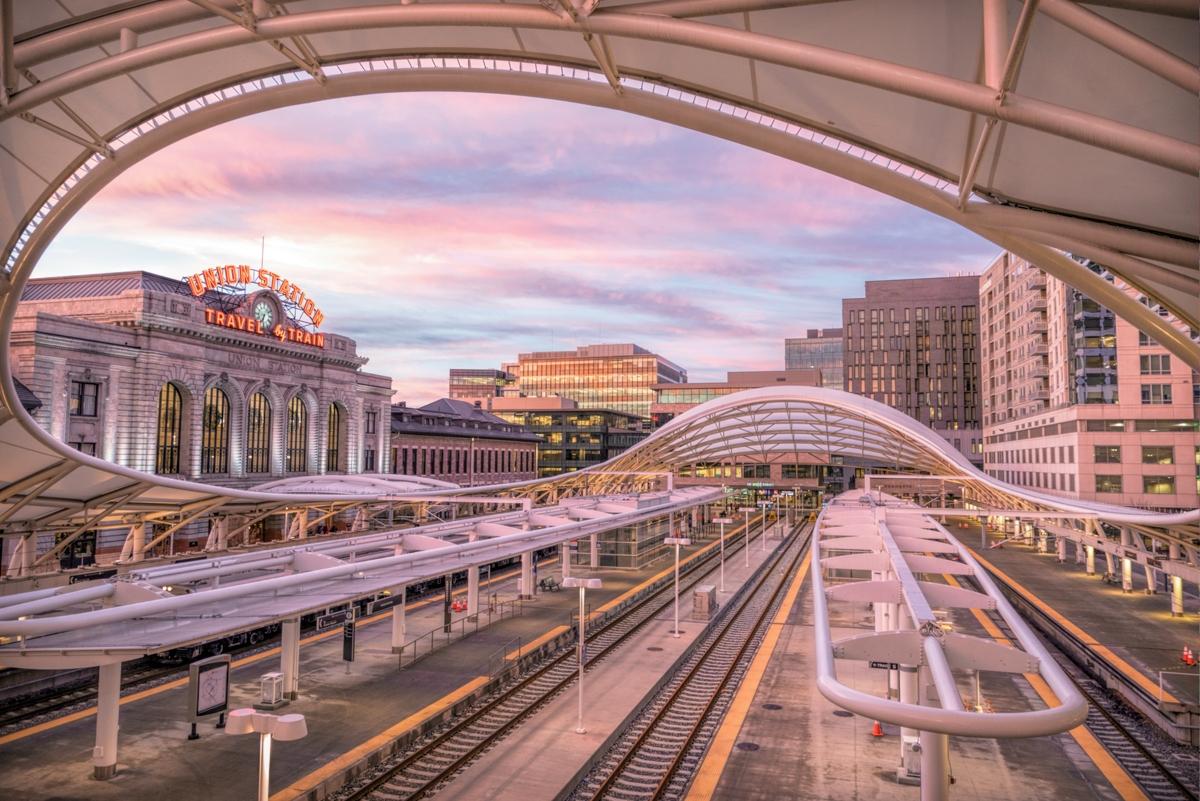 denver, union station, downtown, passenger station, train, photo